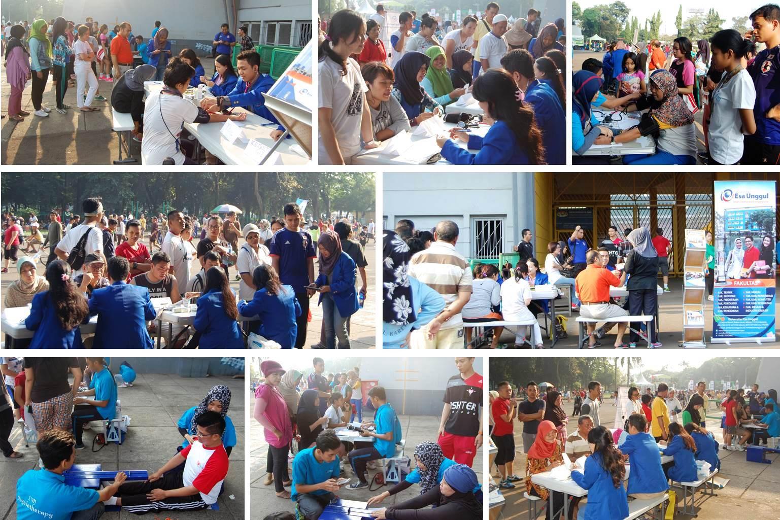 Pemeriksaan Kesehatan dan Olahraga Bersama Universitas Esa Unggul di Stadion Utama Gelora Bung Karno
