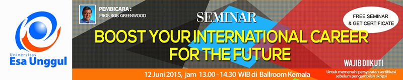 "Seminar Prof. Robert Greewood – University Barnsley, UK: ""How to Boost Your International Career for the Future"""