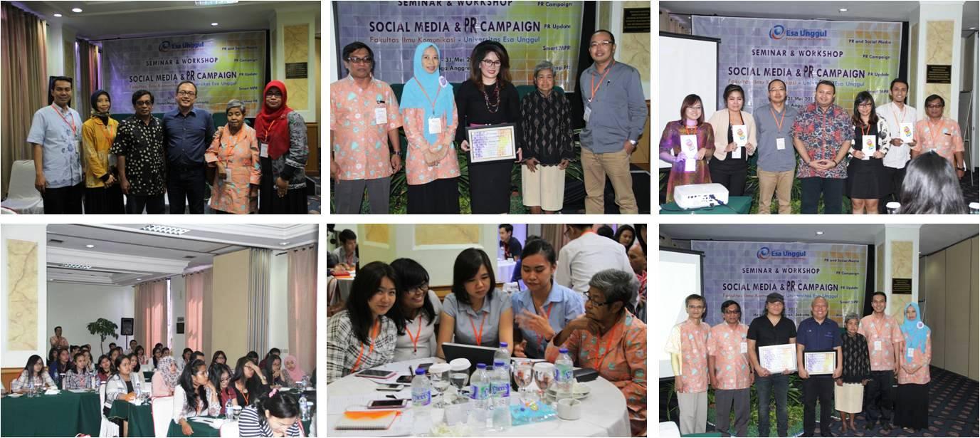 """Seminar & Workshop """"Media Social & PR Campaign"""" Mahasiswa Kelas Paralel, Program Studi Public Relation"""