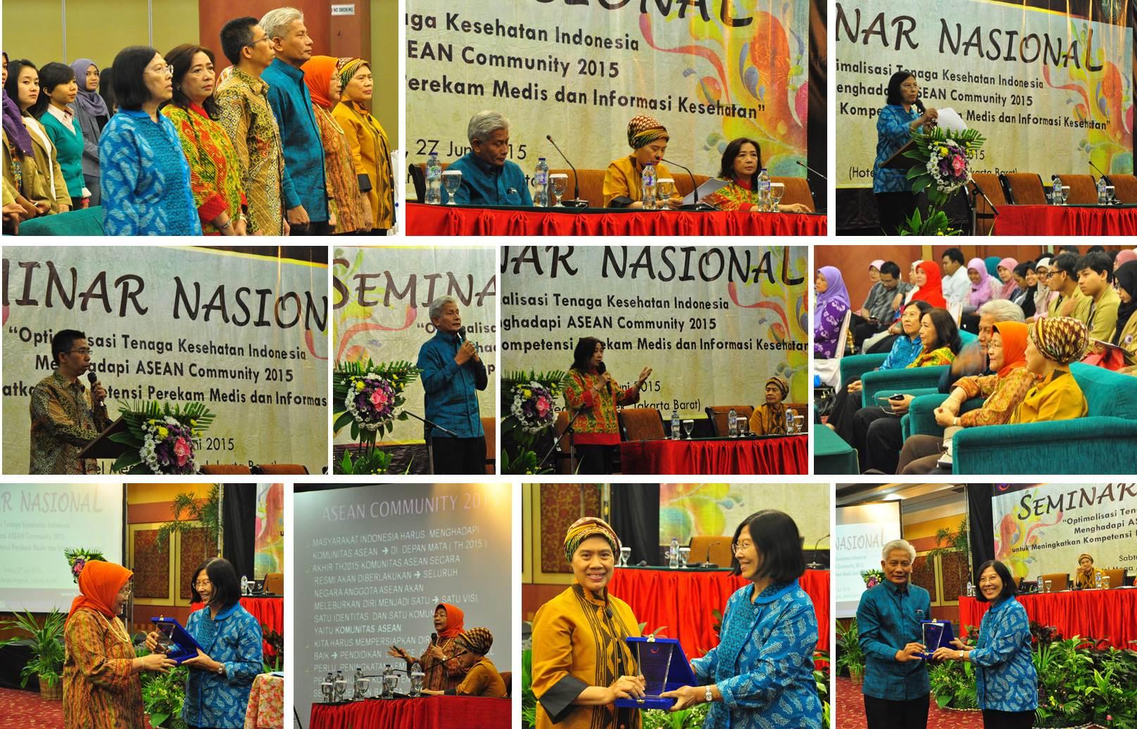 """Seminar Nasional dan Call Paper Program Studi Rekam Medis dan Informasi Kesehatan """"Optimalisasi Tenaga Kesehatan Indonesia Menghadapi ASEAN Community 2015"""""""