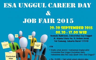Esa Unggul Career Day dan Job Fair, 29 – 30 September 2015