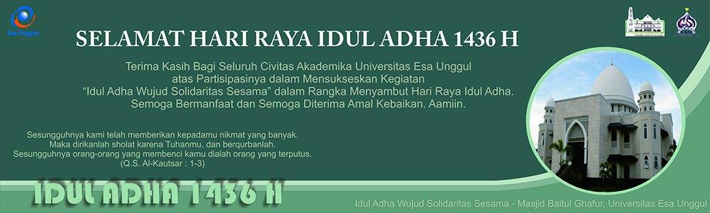 Peringatan Idul Adha dan Pemotongan Hewan Qurban di Universitas Esa Unggul 2015
