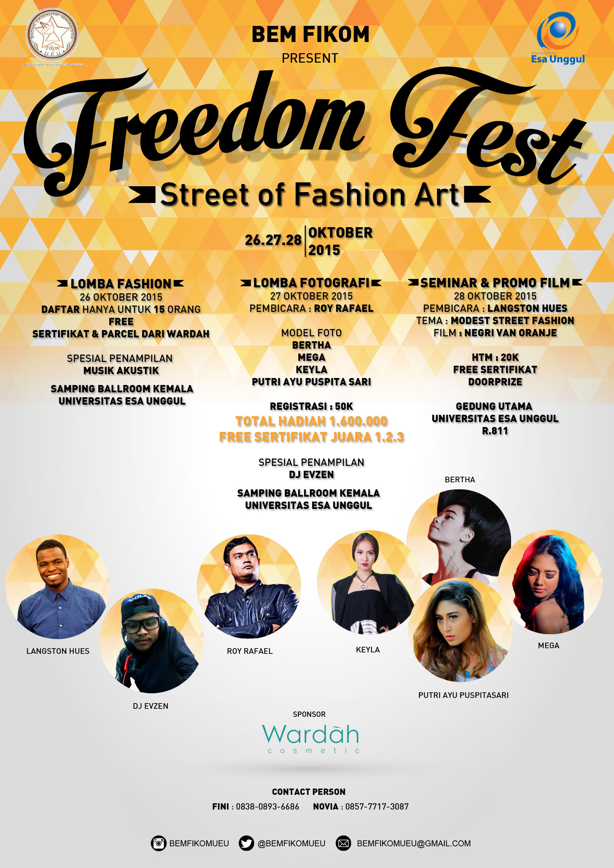 BEM Fikom Present Freedom Fest Street of Fashion Art