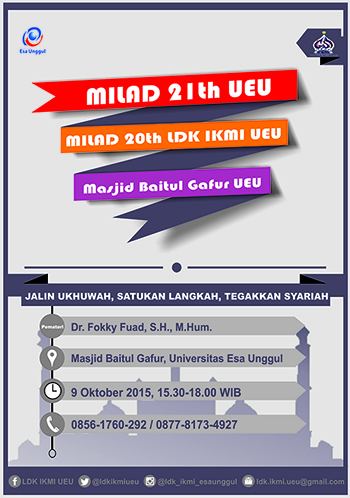 MILAD 21 TH UEU dan MILAD  20 TH LDK IKMI UEU