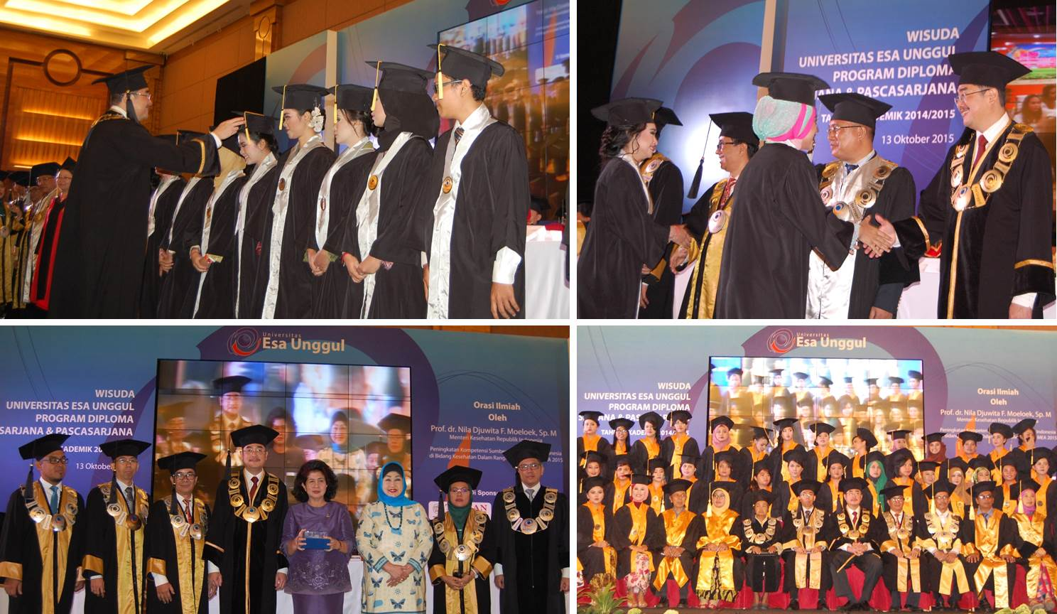 Universitas Esa Unggul Mewisuda 1.420 Lulusan yang Kompeten, Siap Bersaing di Dunia Kerja dan Usaha pada 13 Oktober 2015