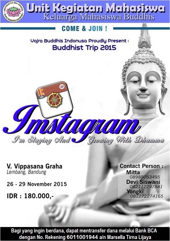 KMB Vajra Buddhis Indonusa Universitas Esa Unggul Menyelenggarakan Buddhis Trip 2015