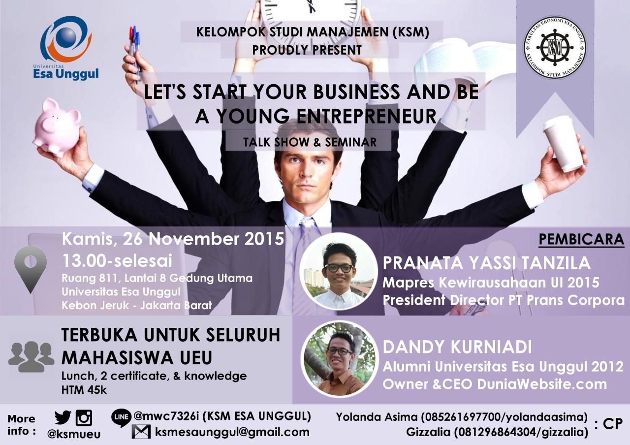 Seminar Terbaru Jurusan Manajemen Universitas Esa Unggul