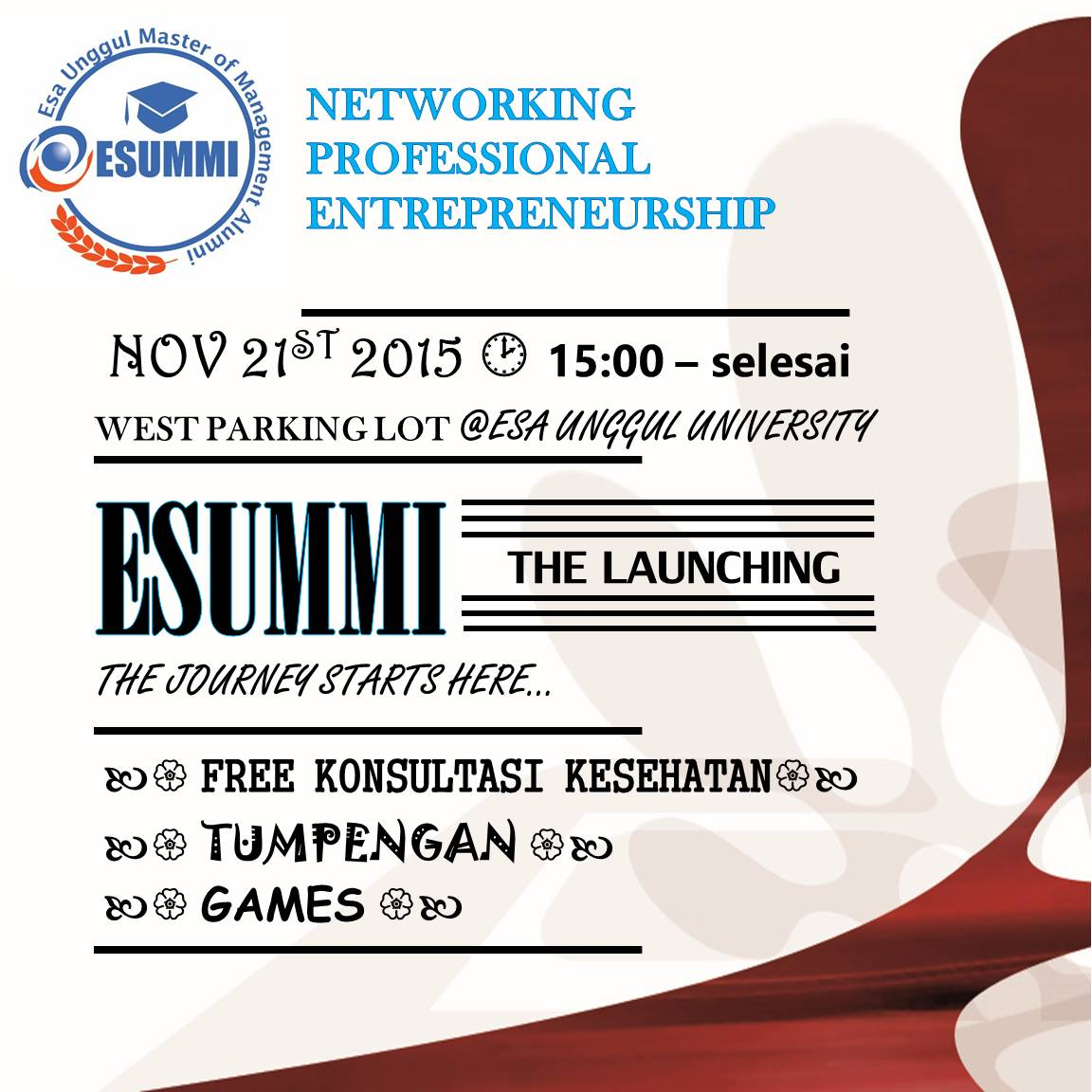 Universitas Esa Unggul Master of Management Alumni (ESUMMI) Menyelenggarakan Networking Professional Entrepreneurship