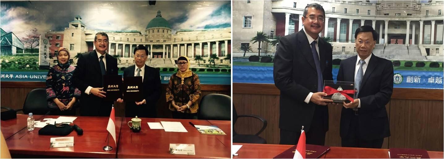 Penandatangan Kerjasama Universitas Esa Unggul Dengan Taiwan Asia University