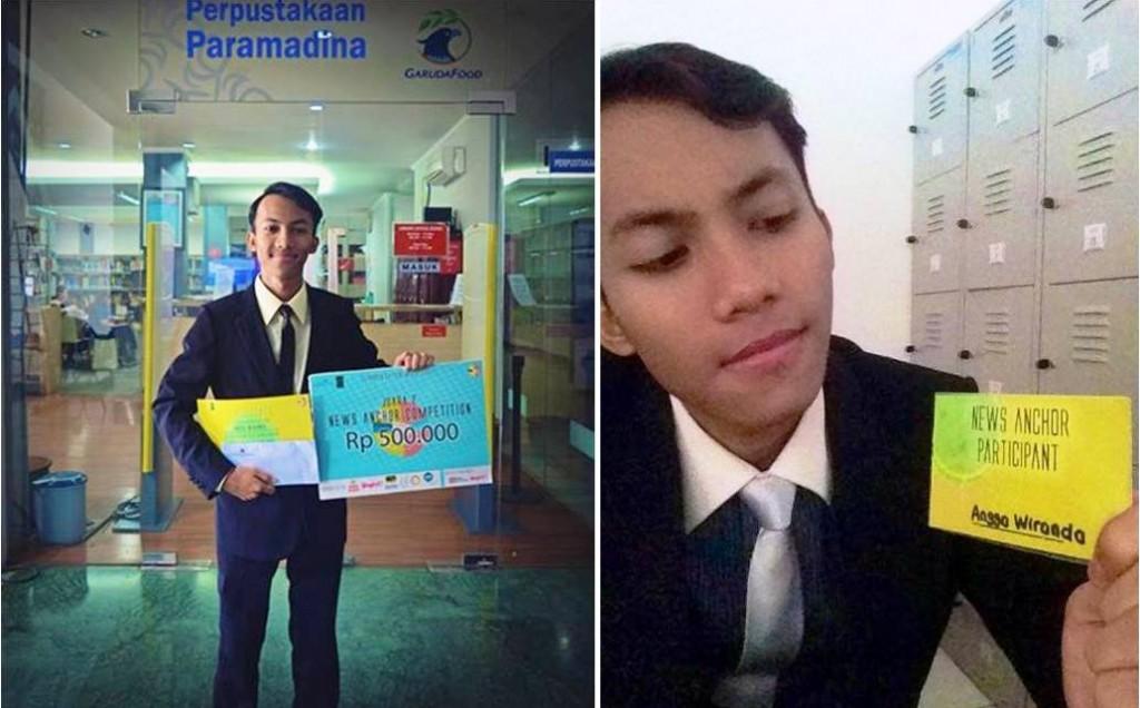 Angga Wiranda dalam Acara Anchor Competition