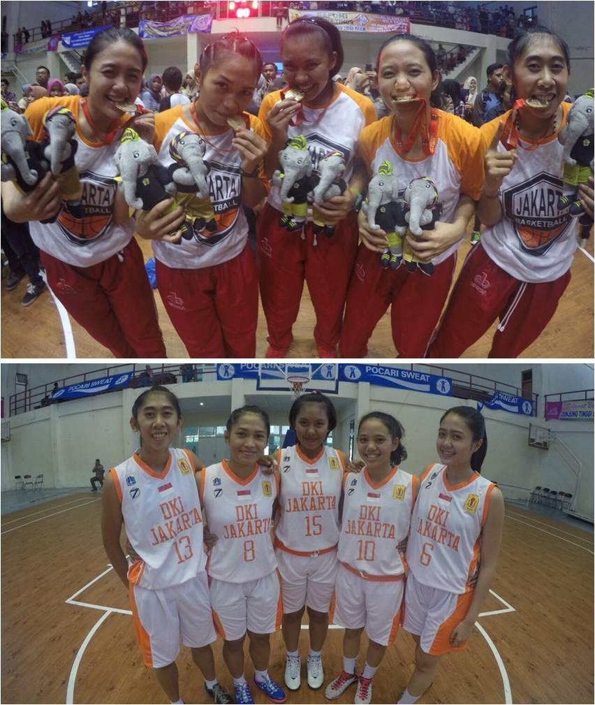 Juara 1 Basket Putri pada Pekan Olahraga Mahasiswa Nasional 2015 di Aceh