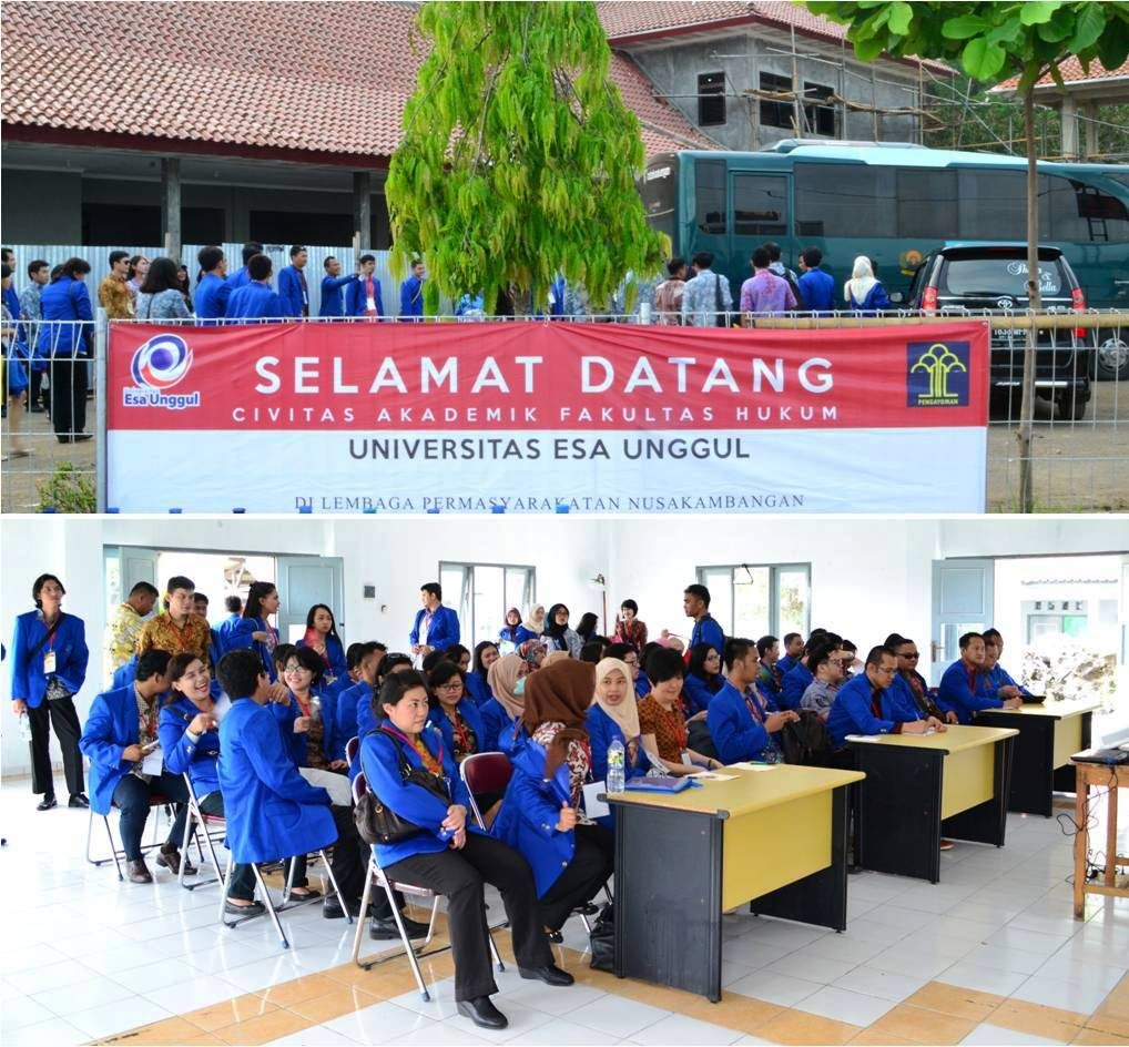Mahasiswa Fakultas Hukum Universitas Esa Unggul di Nusa Kambangan