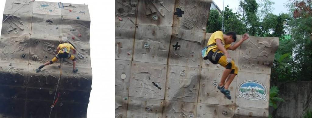 Salah Satu Peserta Wall Climbing