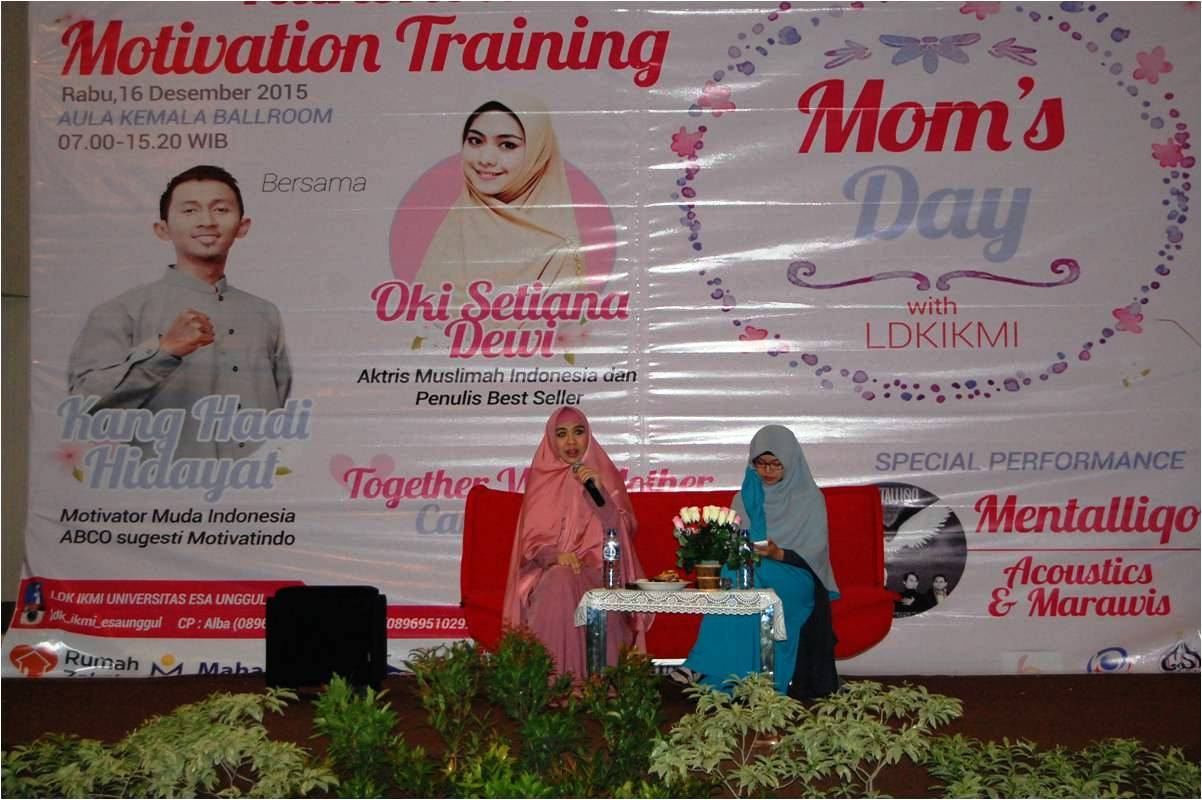 "Moms Day with LDK IKMI Universitas Esa Unggul ""Together with Mom Can Give Us a Power"""