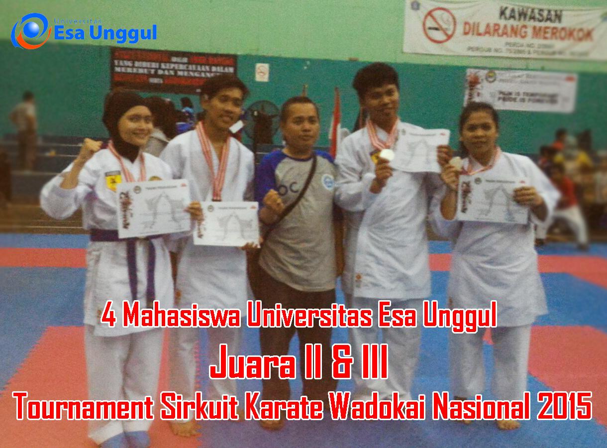 Mahasiswa Universitas Esa Unggul Mengikuti Sirkuit Karate Wadokai DKI Jakarta 2015
