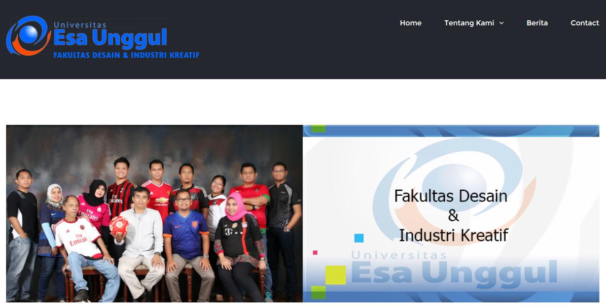 Web Fakultas Desain & Industri Kreatif