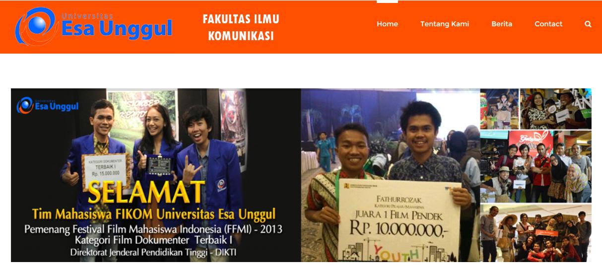 Web Fakultas Ilmu Komunikasi