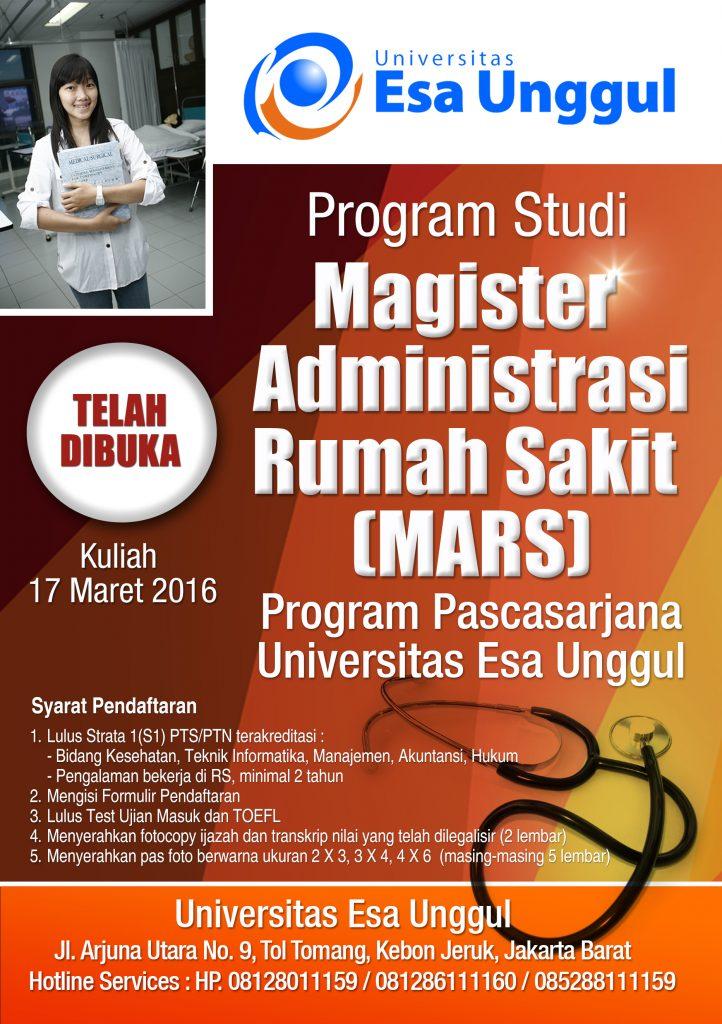 Magister Administrasi Rumah Sakit (MARS) Universitas Esa ...