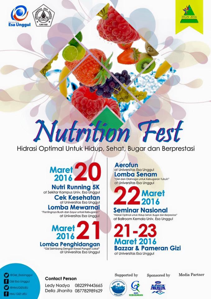 Program Studi Ilmu Gizi Universitas Esa Unggul Menyelenggarakan Nutrition Festival 2016