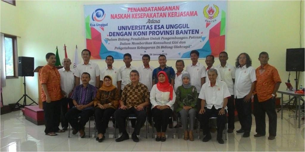Kerjasama Universitas Esa Unggul dan KONI Provinsi Banten