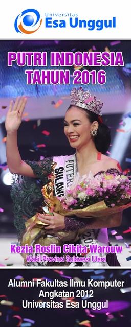 Kezia Cikita Warouw Putri Indonesia 2016