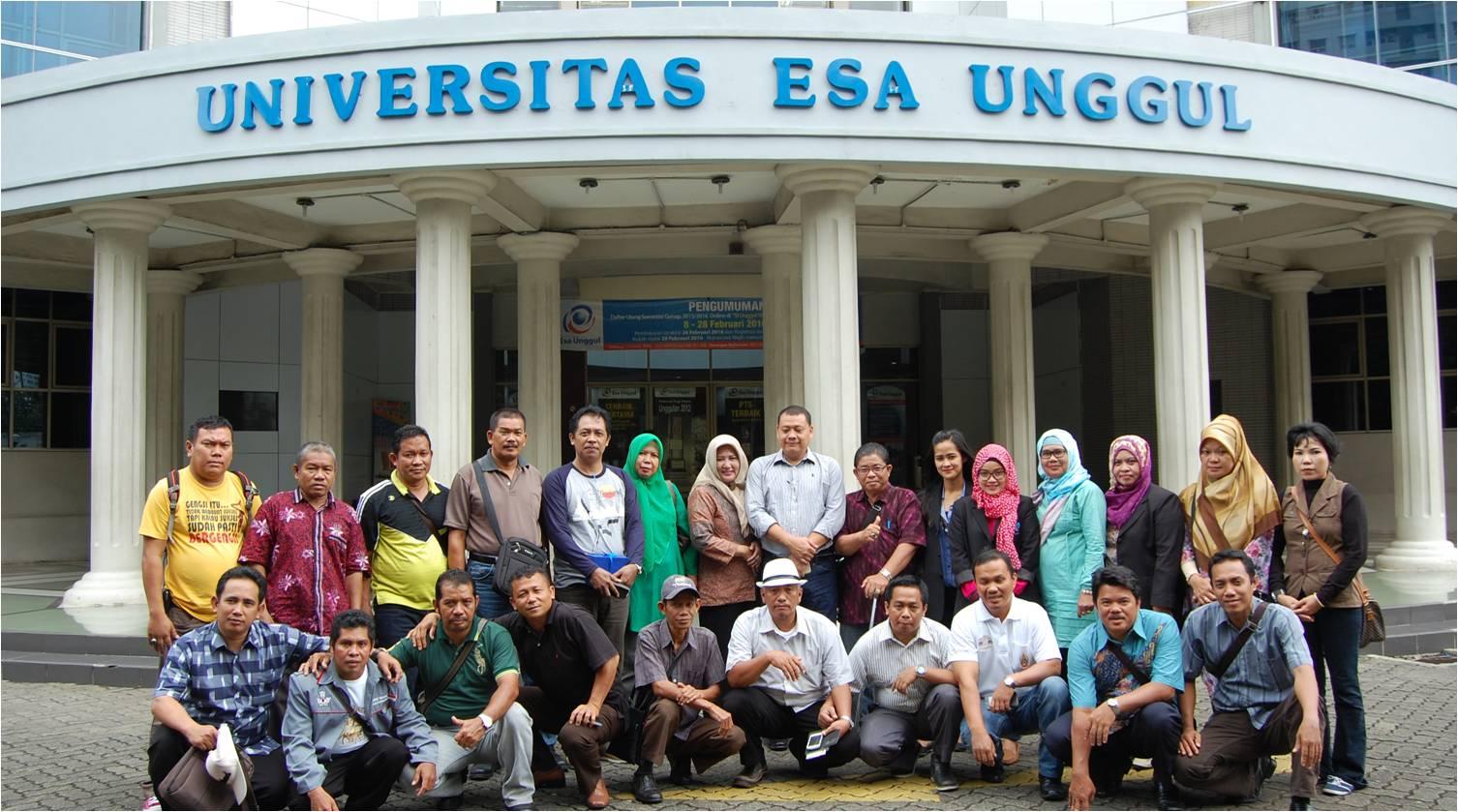 Kunjungan Kepala Sekolah SMA/SMK dan Kepala Dinas Pendidikan se-Bangka Barat Belitung ke Universitas Esa Unggul