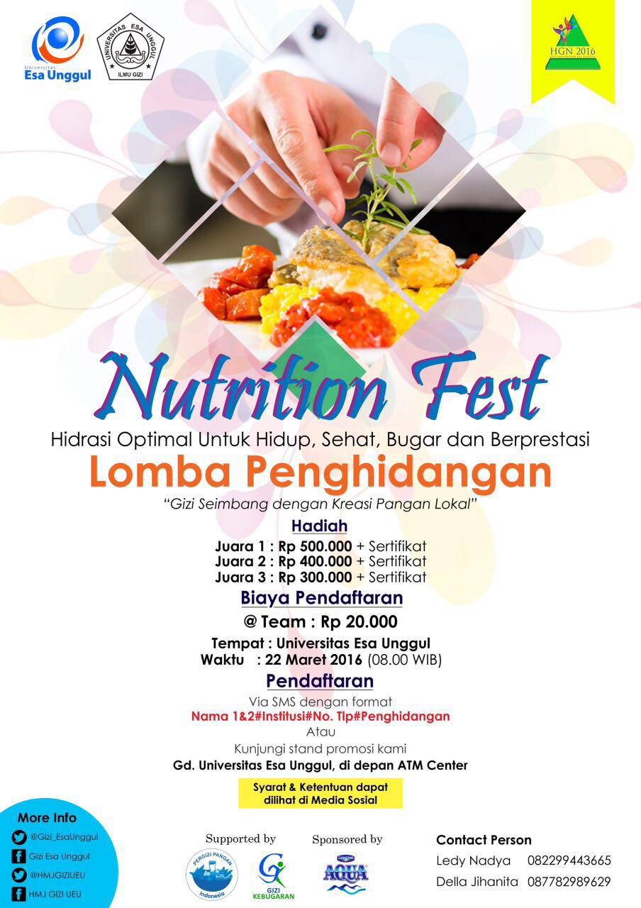 Lomba Penghidangan Nutrition Fest Universitas Esa Unggul