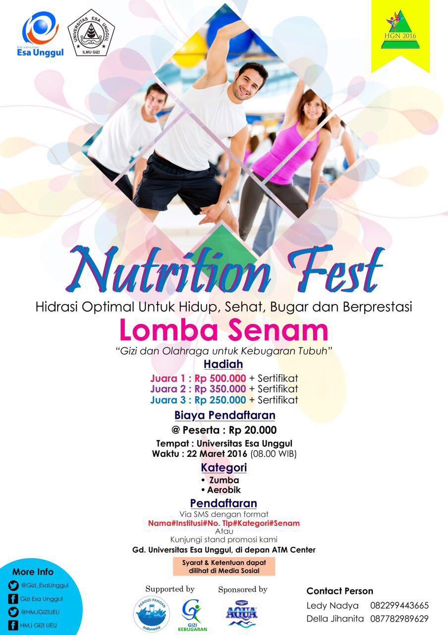 Lomba Senam Nutrition Fest Universitas Esa Unggul