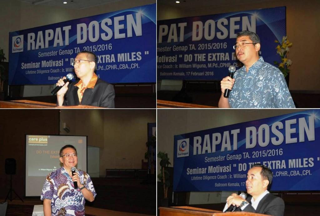 Pembicara di Acara Rapat Dosen Universitas Esa Unggul