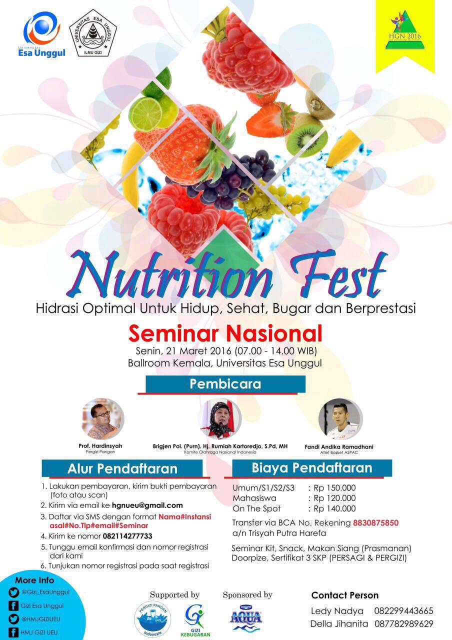 Seminar Nasional Nutrition Fest Universitas Esa Unggul
