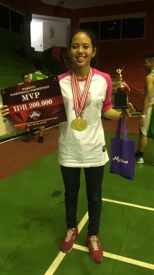 Anjelin Rosmika sebagai MVP