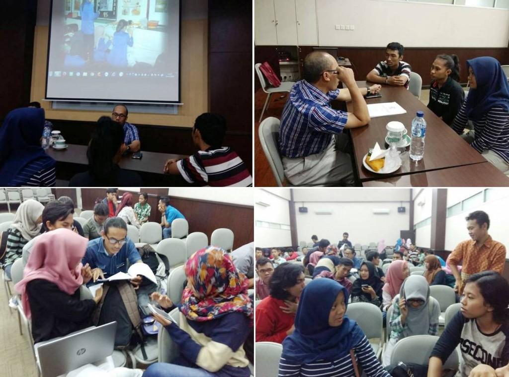 Kelompok Beasiswa UEU mengikuti Coaching Clinic