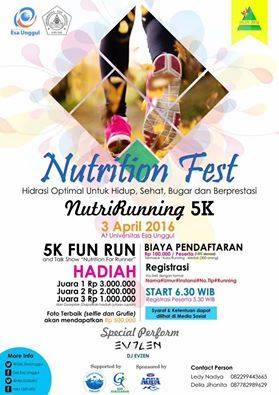 Nutrirunning Nutrition Fest Universitas Esa Unggul