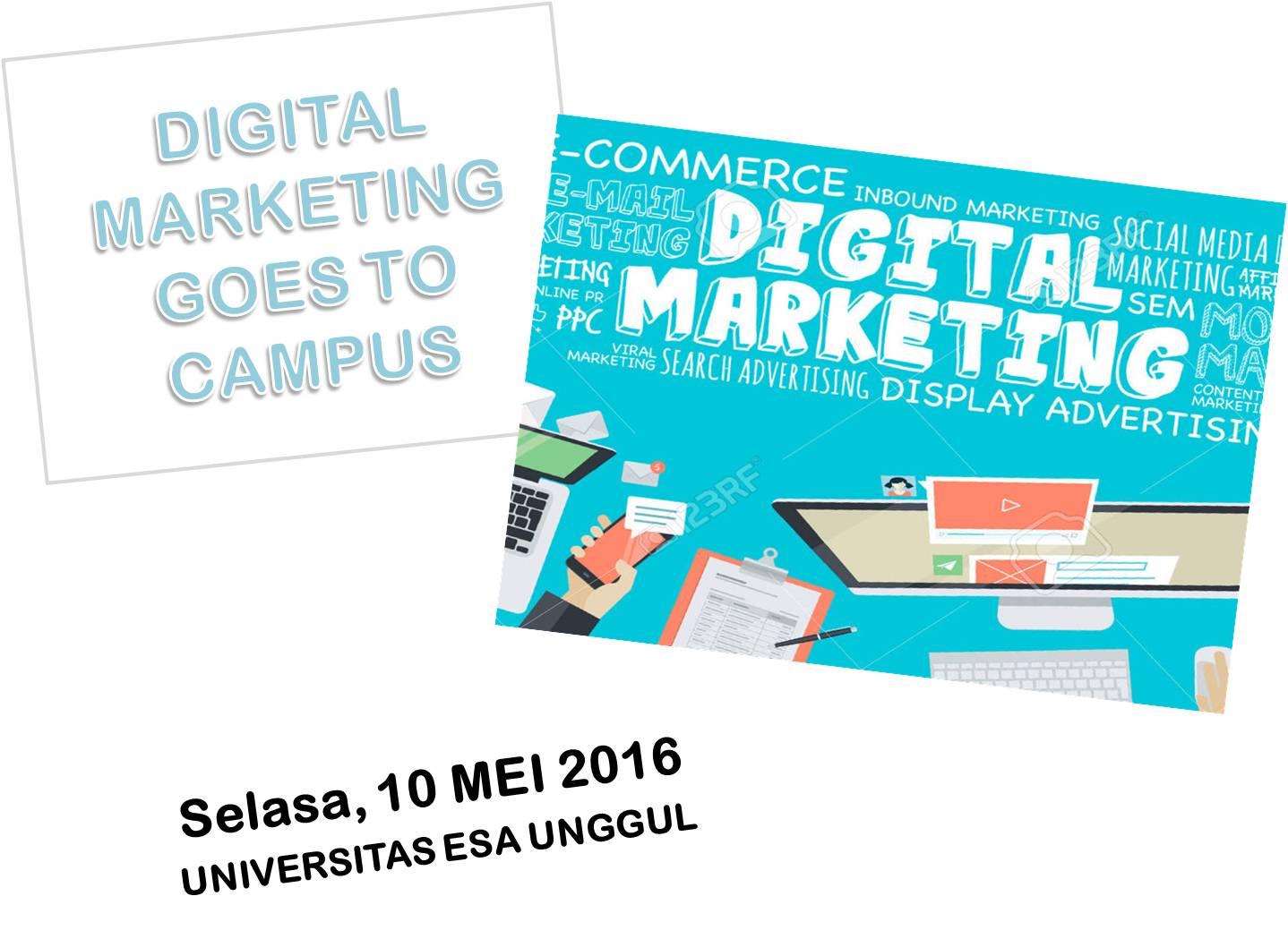 Digital Marketing Workshop for Student & Public at Esa Unggul University