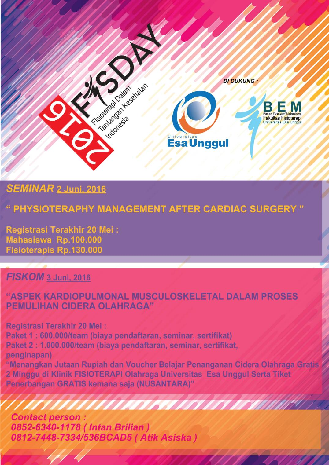 Physioteraphy Day 2016 Universitas Esa Unggul