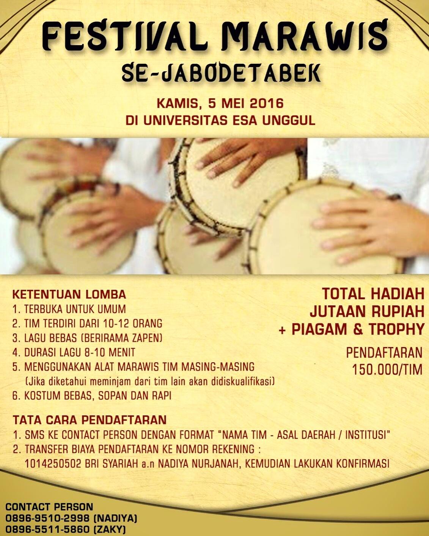 Festival Marawis Se-JABODETABEK Universitas Esa Unggul