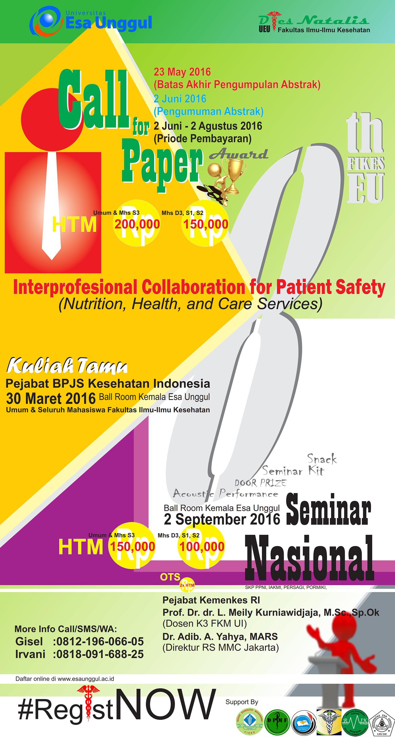 Call for Paper dan Seminar Nasional FIKES Esa Unggul