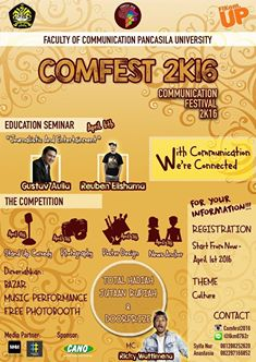 Selamat mahasiswa Fakultas Ilmu Komunikasi, Angga Wiranda Juara 2 News ANCHOR dan Mahasiswa FDIK Anda Imam Praman Juara 3 Lomba COMFEST 2K16
