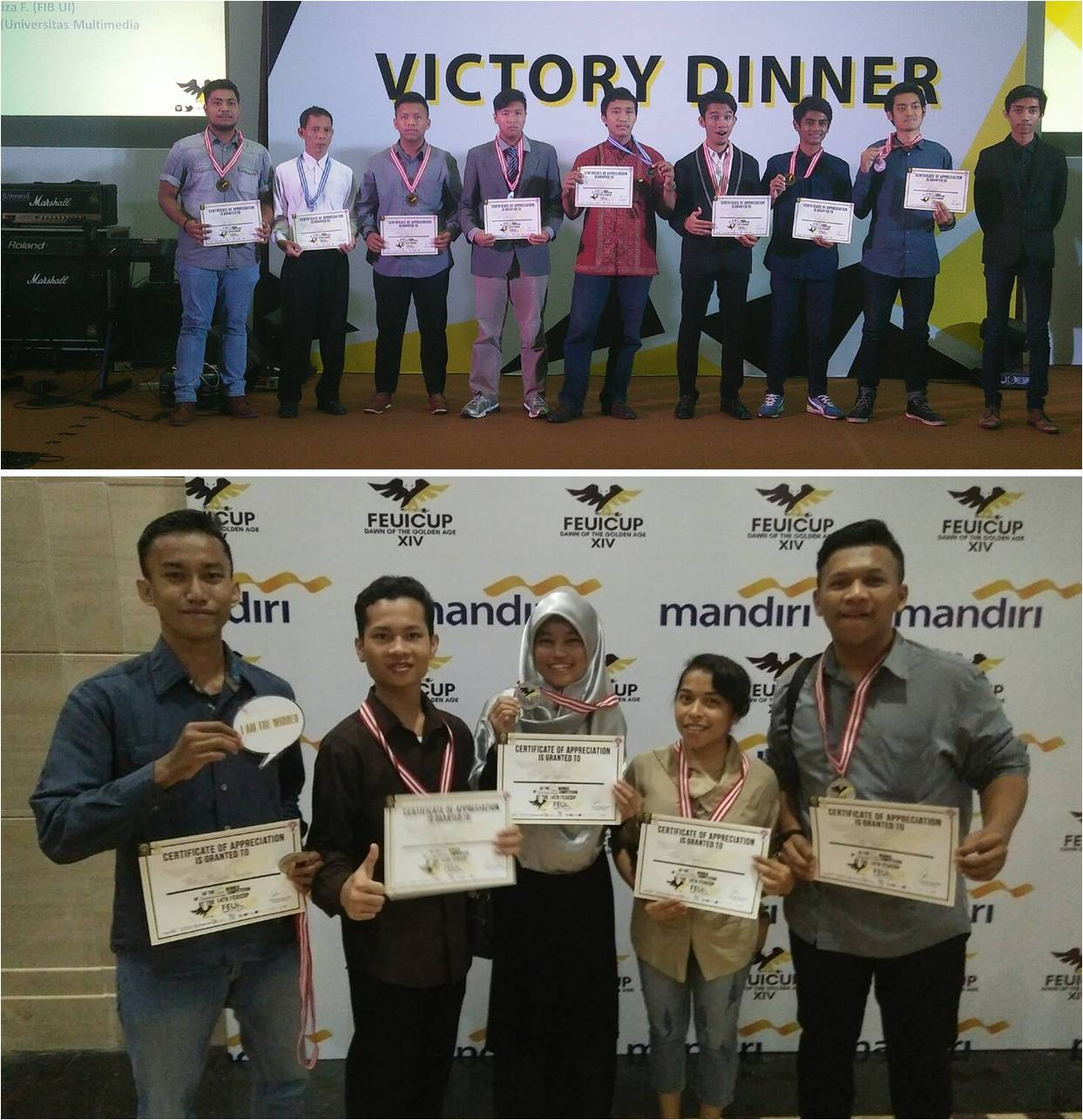 Pemenang Taekwondo Putra dan Putri