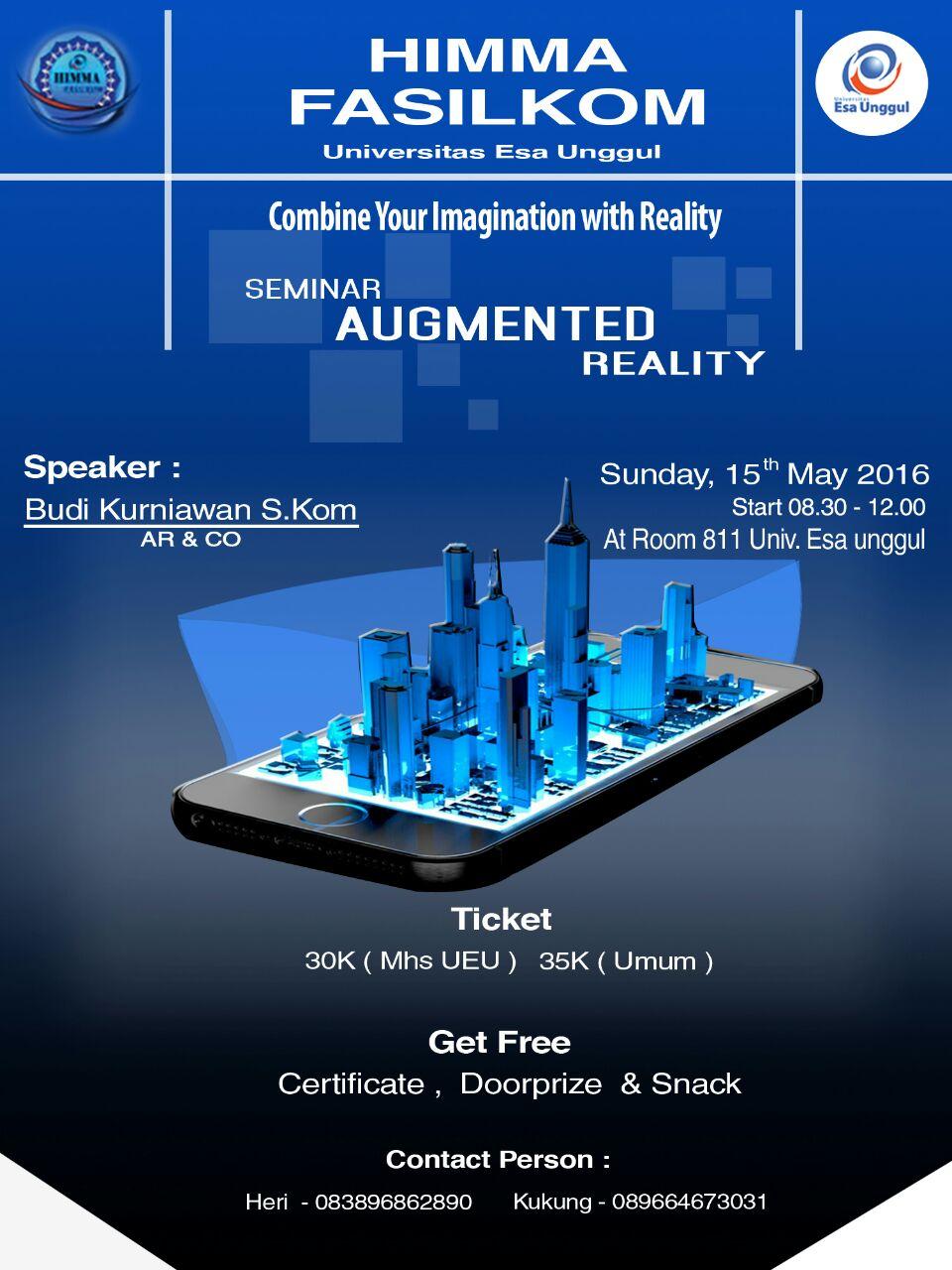 Seminar Augmented Reality, Fakultas Ilmu Komputer