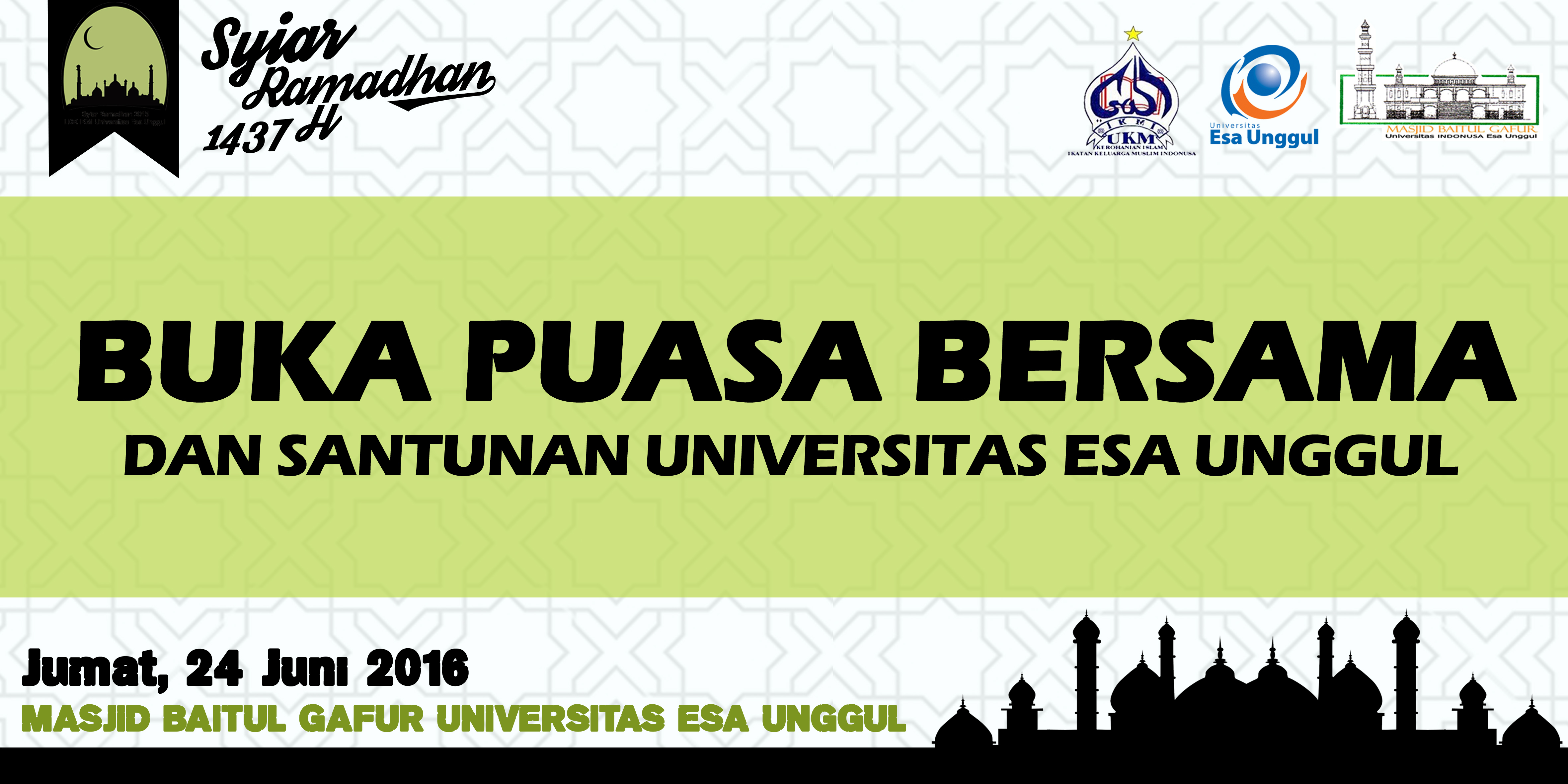 Rangkaian Kegiatan Buka Puasa Bersama dan Santunan Universitas Esa Unggul