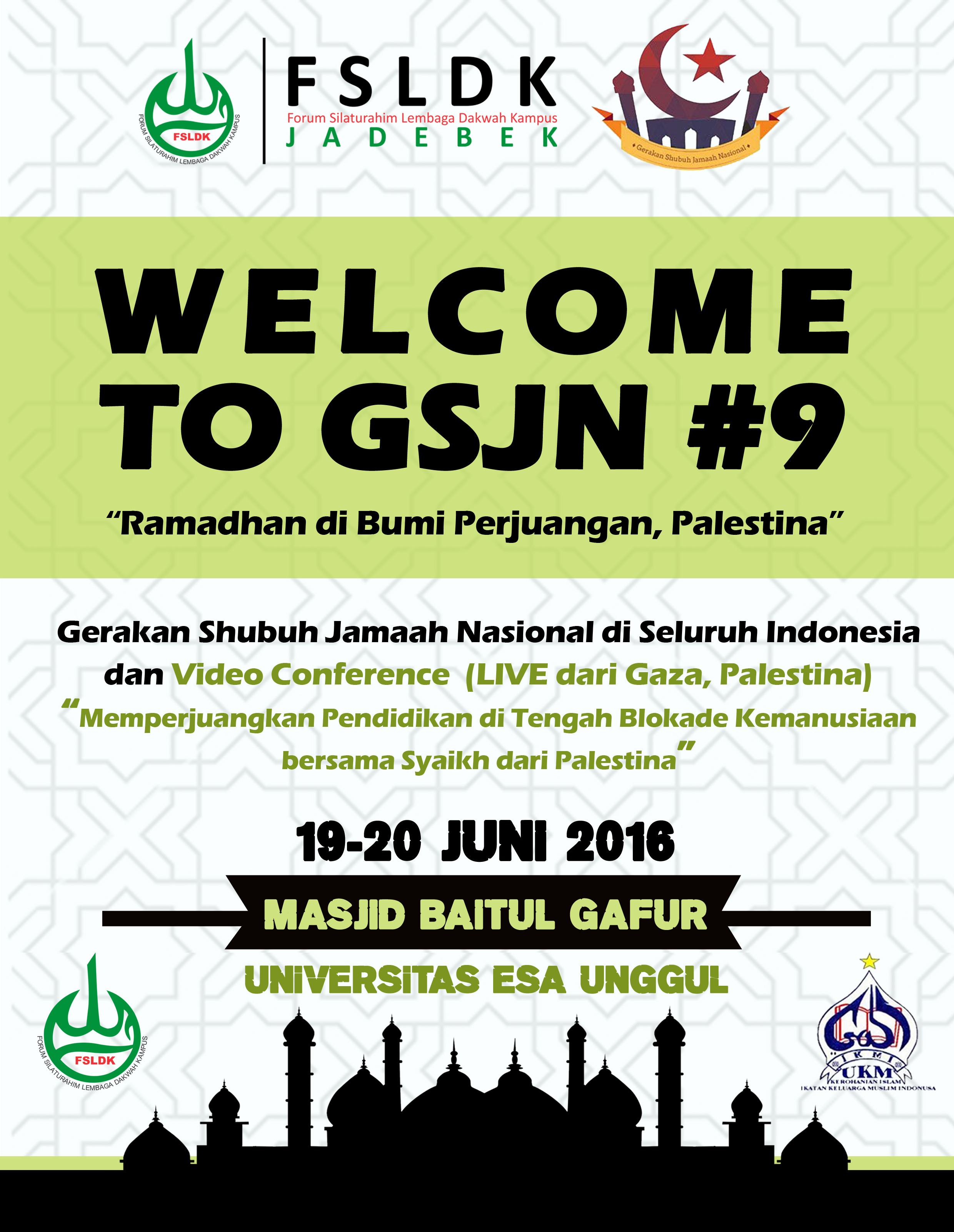 Gerakan Sholat Subuh Jamaah Nasional Bersama di Masjid Baitul Gafur Universitas Esa Unggul