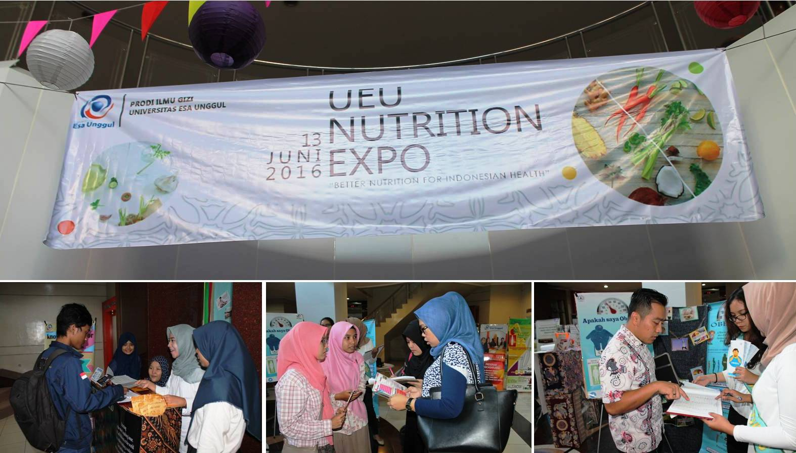 Hari Pertama Nutrition Expo Universitas Esa Unggul