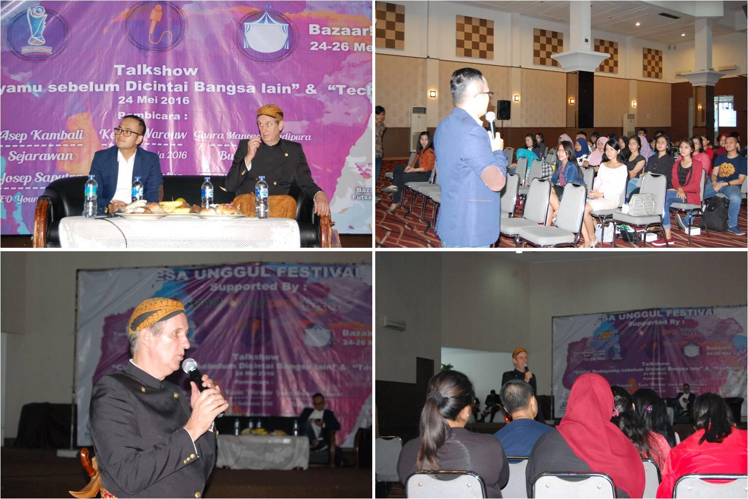 Pembicara di Acara Seminar Esa Unggul Festival