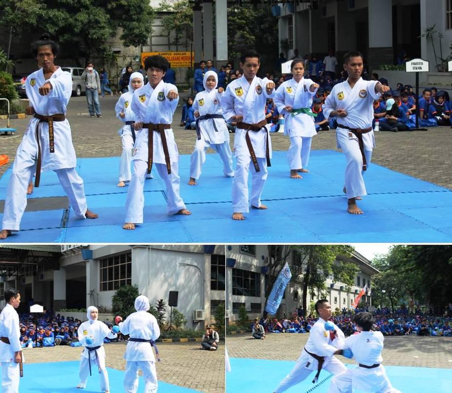 Atraksi Karate Mahasiswa Universitas Esa Unggul