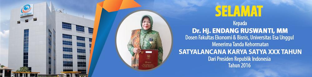 Selamat Dosen Fakultas Ekonomi dan Bisnis Raih SATYALANCANA KARYA SATYA XXX Tahun, Presiden Republik Indonesia 2016