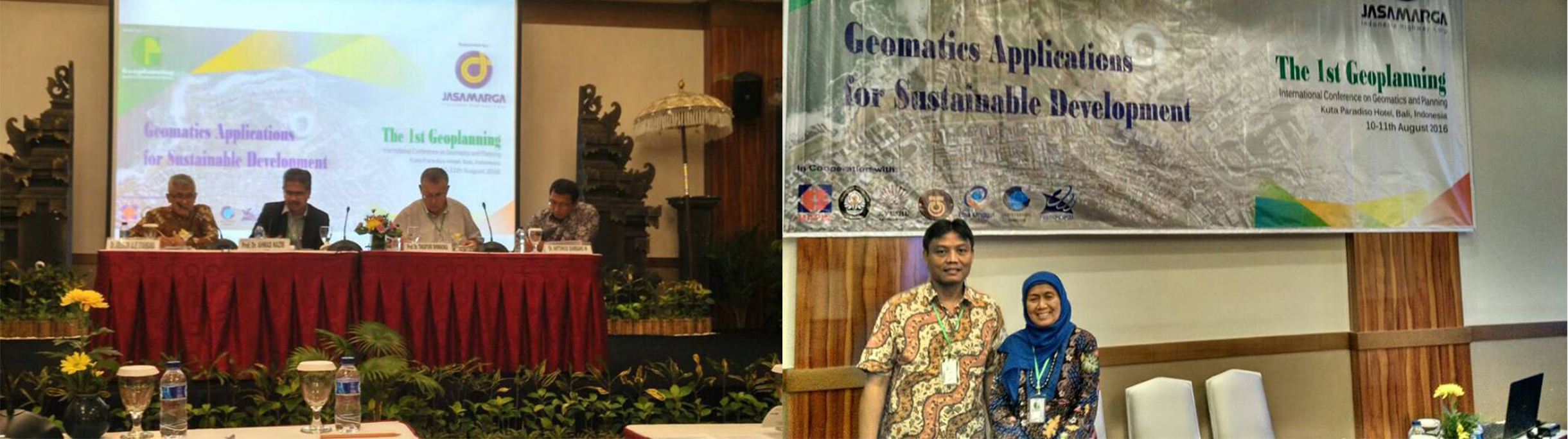 "International Conference ""The 1 st geoplaning international conference on gromatics and palnning"" Bali"
