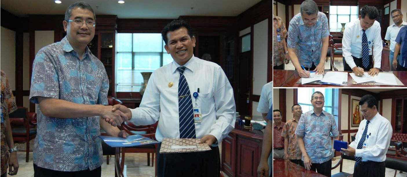 Penandatanganan MOU dengan Bapak Enderiman Butar Butar, SP., M.Si