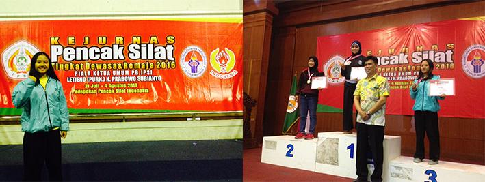Selamat kepada Mahasiswa Universitas Esa Unggul Juara 3 KEJURNAS Pencak Silat Tingkat Remaja & Dewasa 2016