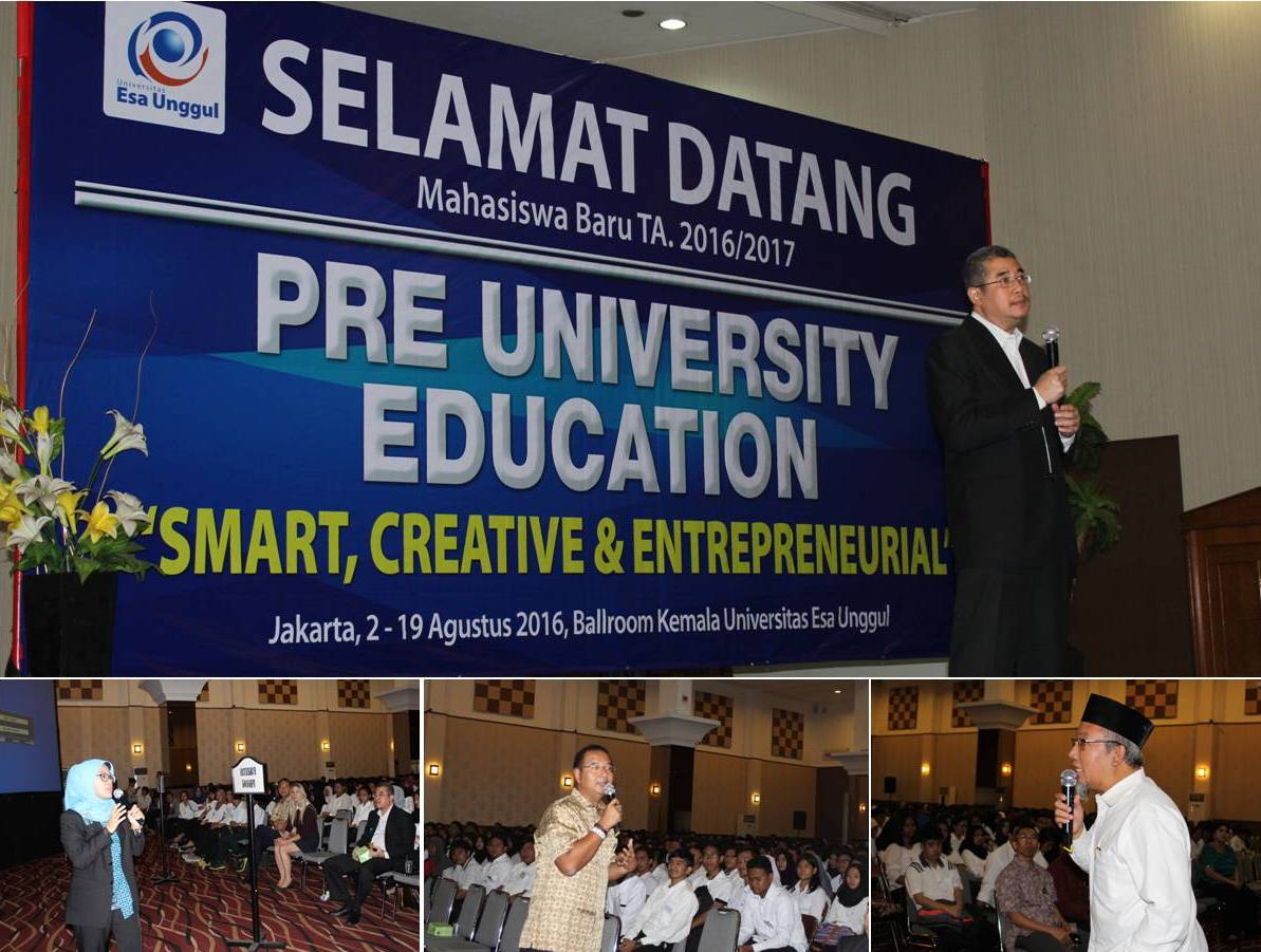 Pembukaan Pre University Education, Awali Kuliah Dengan Seminar Pengembangan Diri Untuk Berprestasi